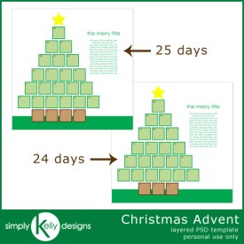 Christmas Advent Template by Simply Kelly Designs