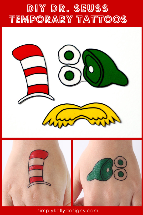 Dr Seuss Temporary Tattoos by Simply Kelly Designs