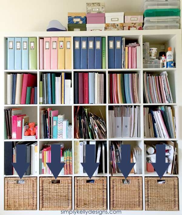 IKEA Expedit Craft Storage by Simply Kelly Designs #crafts #organization #IKEA #Expedit #BRANAS