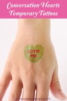 DIY Conversation Hearts Temporary Tattoos