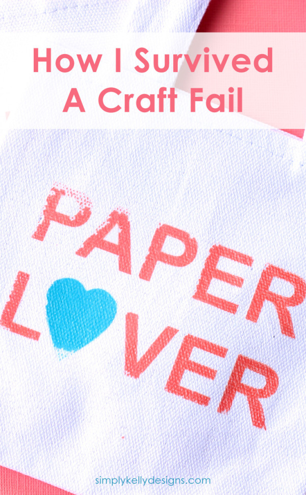 See how I survived a craft fail and liked the resulting project better than my original idea #craftfail