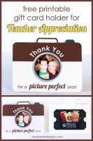 Thank You For A Picture Perfect Year Printable Teacher Appreciation Gift Card Holder