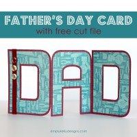 DAD Accordion Fold Father's Day Card