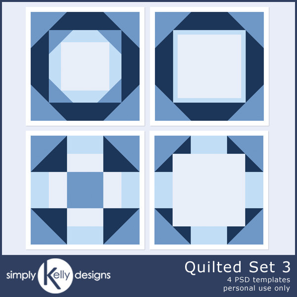 Quilted Template Set 3 by Simply Kelly Designs