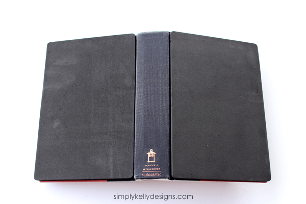 DIY Fabric Inked Book Cover by Simply Kelly Designs