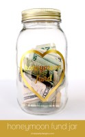 Foiled Honeymoon Fund Jar