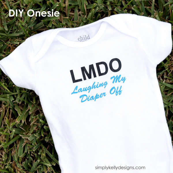 LMDO - Laughing My Diaper Off Onesie by Simply Kelly Designs