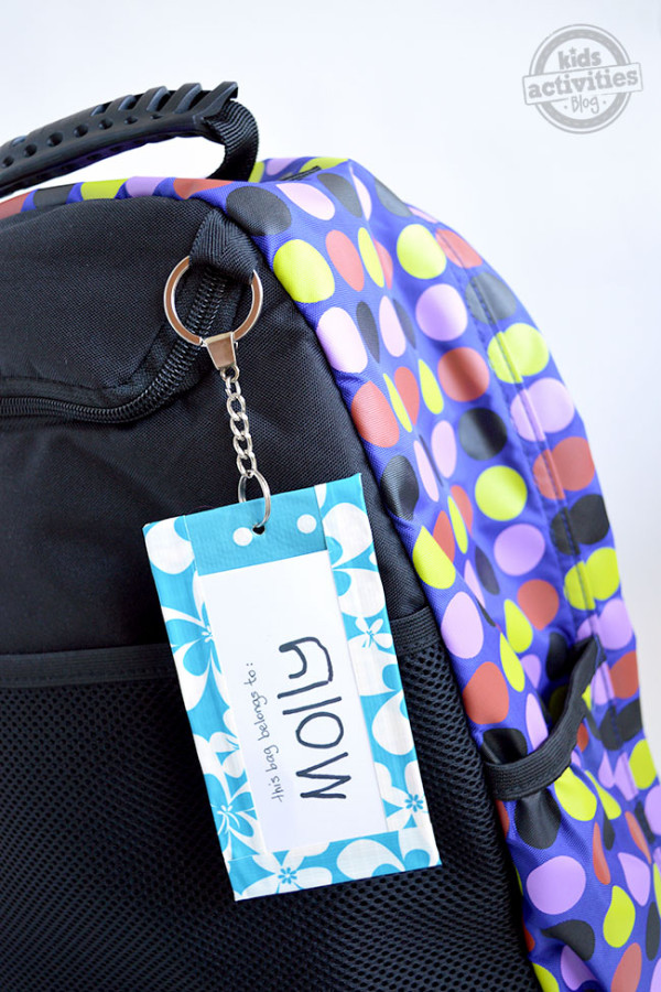 Duck Tape Backpack Tag | Kid Activities Blog