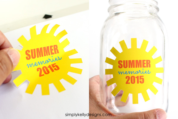 DIY summer memories jar by Simply Kelly Designs