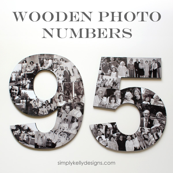Photo Wood Numbers for birthday party decor by Simply Kelly Designs