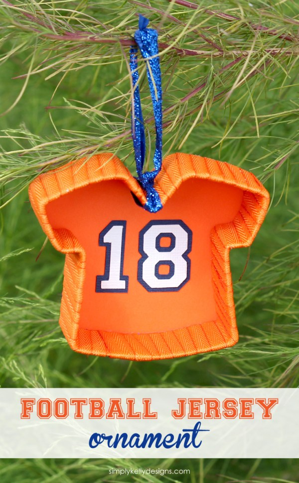 DIY Football Jersey Ornament by Simply Kelly Designs