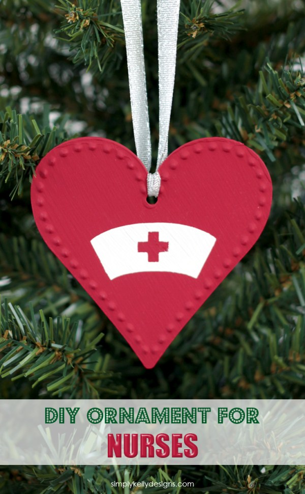 Have a special nurse in your life? Create this easy DIY Christmas ornament for nurses.