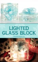 Lighted Glass Block Christmas Present