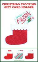 Christmas Stocking Gift Card Holder