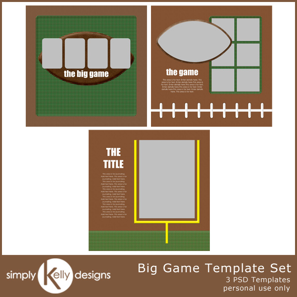 Big Game Template Set