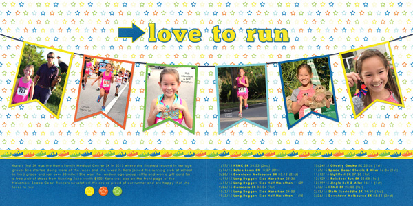 Love To Run Scrapbook Layout by Simply Kelly Designs