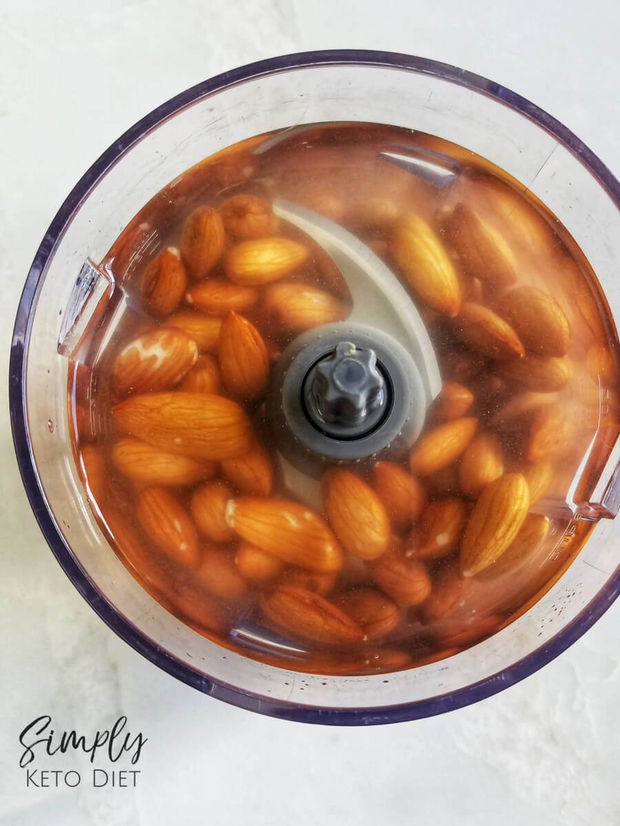 Pour two cups of filtered water into your food processor or blender