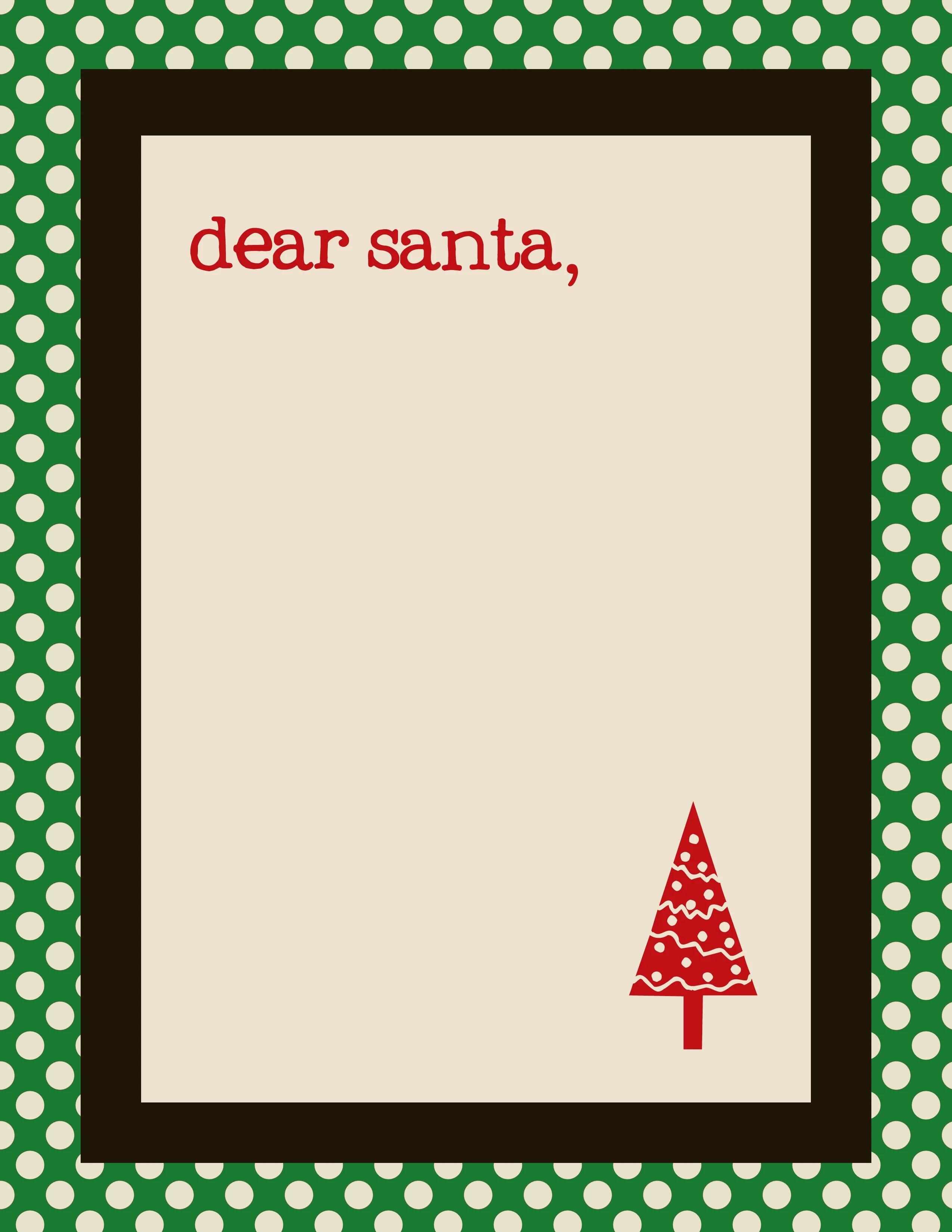 Free Santa Letter Templates