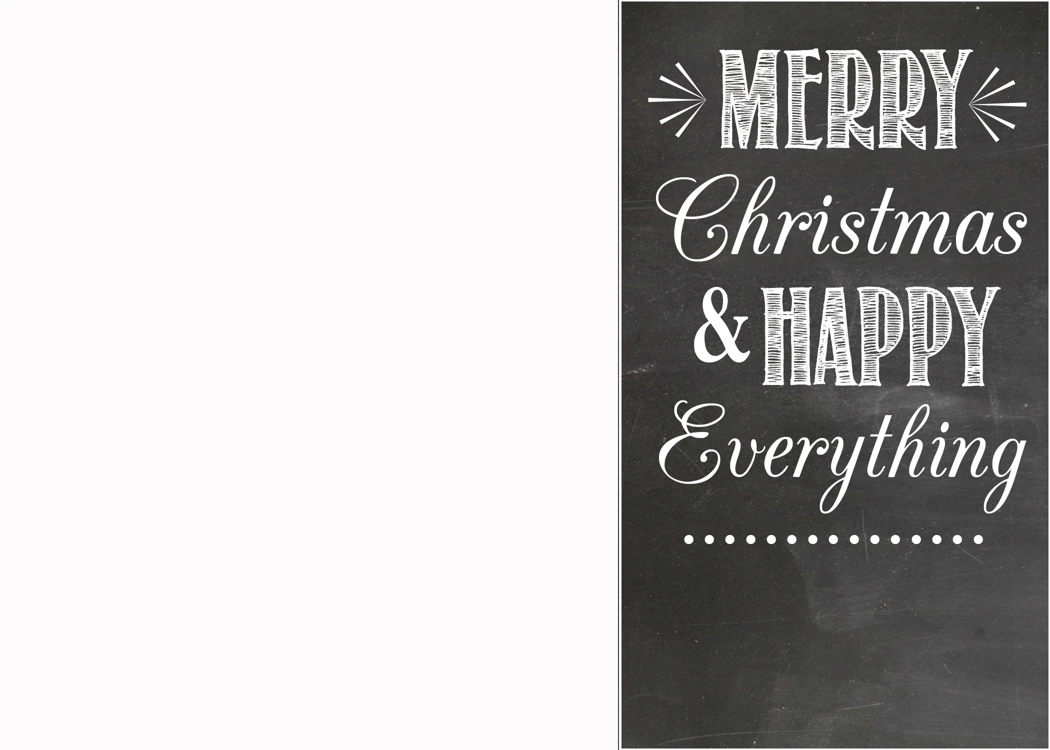 FREE Chalkboard Christmas Card Templates