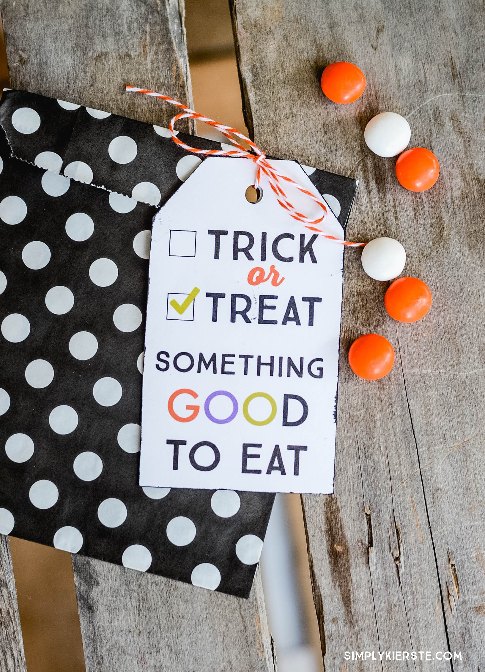 Trick Or Treat Printable Gift Tag