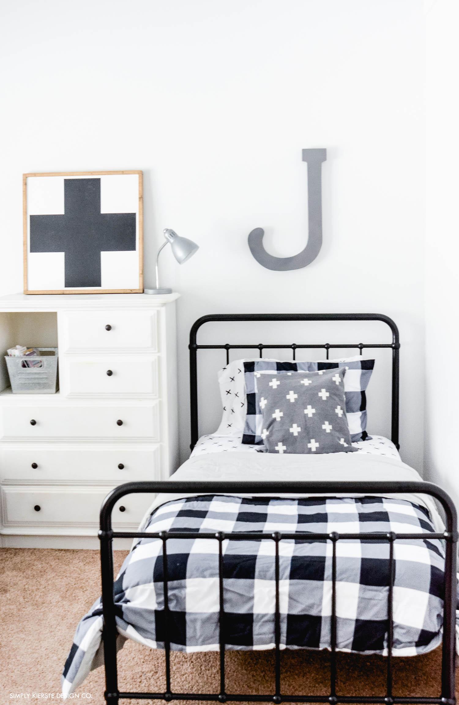 Buffalo Check Boys Bedroom Makeover Simply Kierste