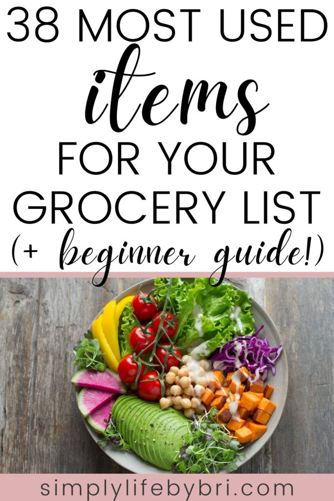 38 most used items for your college grocery list (+ beginner guide)