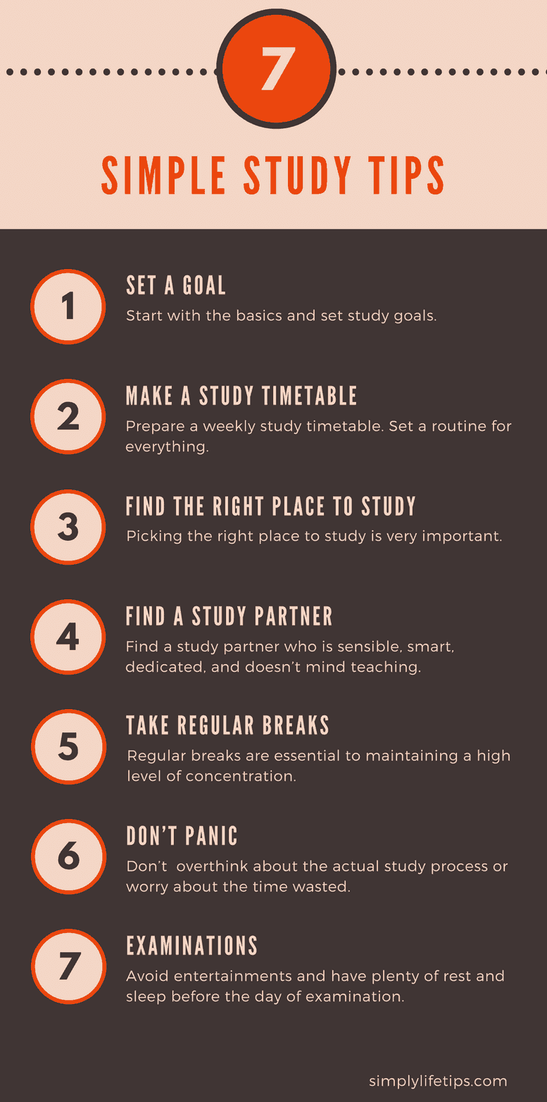 simple study tips infographic - simplylifetips.com
