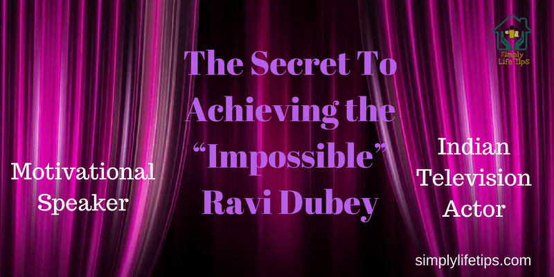 Ravi Dubey Motivationa Speaker Actor