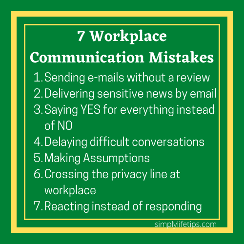7 Workplace Communication Mistakes