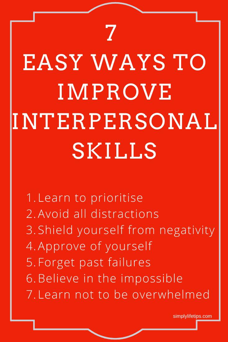 7 Easy Ways To Improve Interpersonal Skills