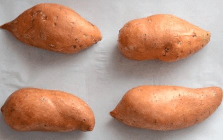 4 Nos. Brown Colour Sweet Potatoes To Increase Weight