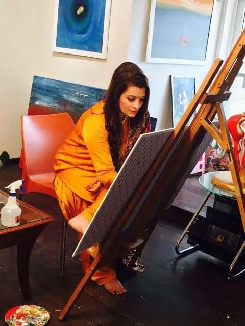 Abstract artist Krupa Shah