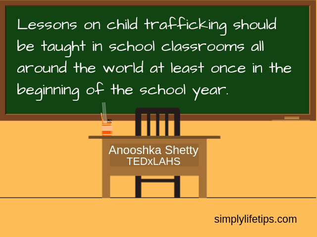 Stop Child Trafficking - Anooshka Shetty Quote