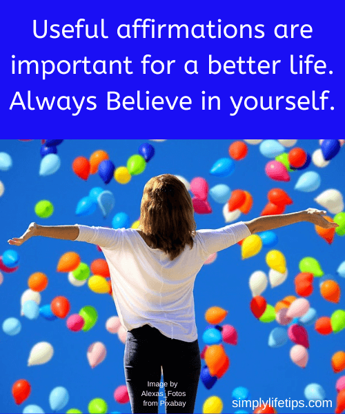 Useful affirmations for better life