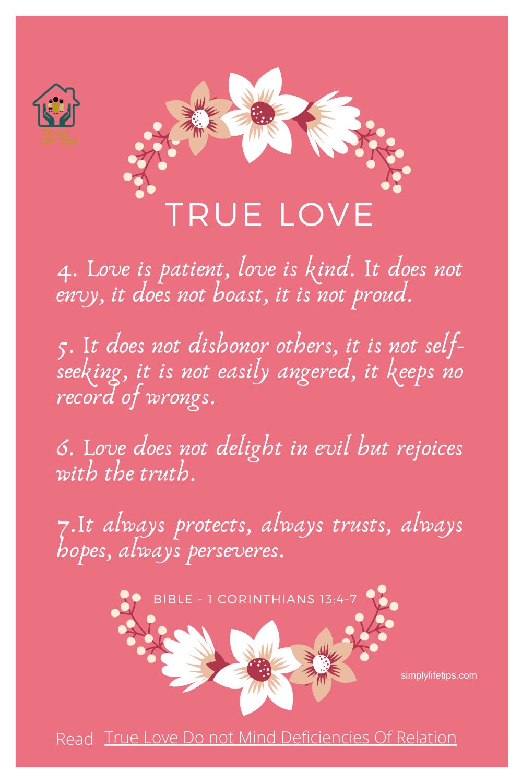 True Love Bible - 1 Corinthians 13:4-7