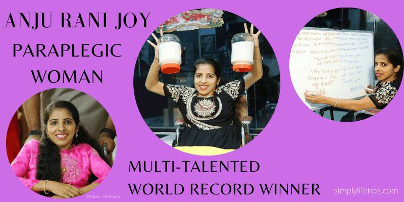 Anju Rani Joy Paraplegic Woman World Record Winner