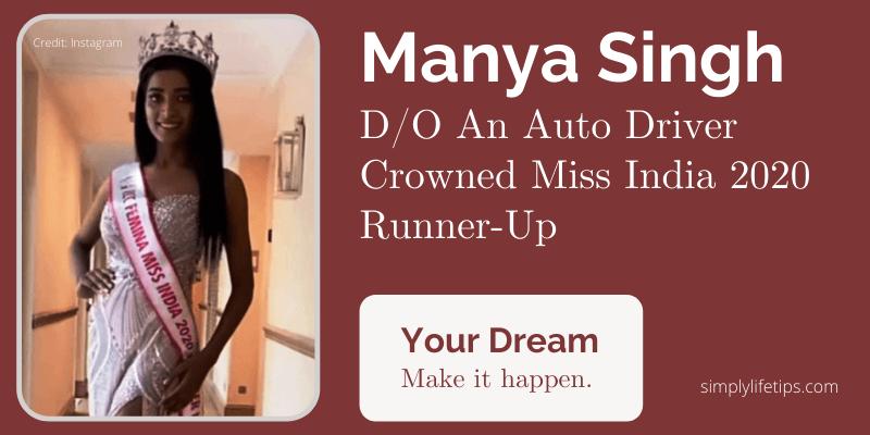 Manya Singh Miss India 2020 Runner-Up