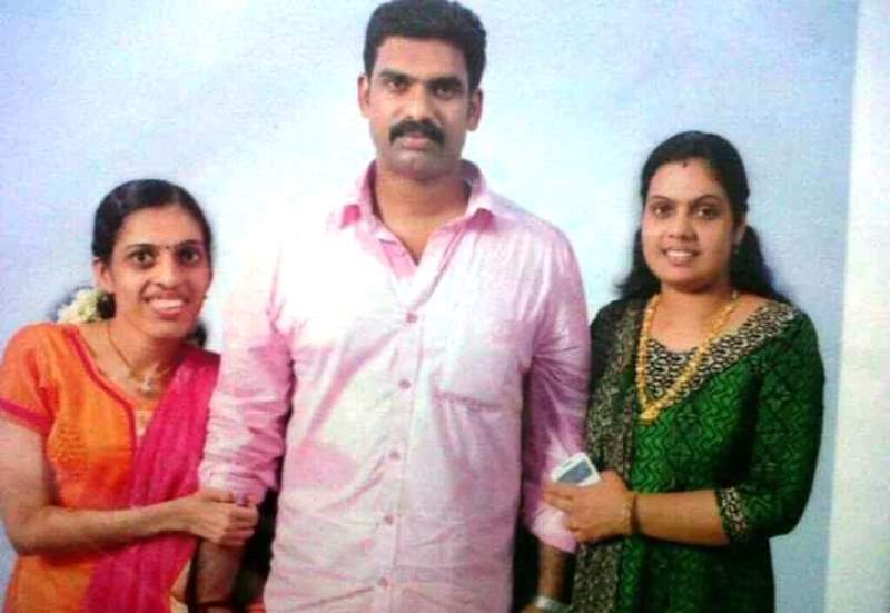 Remya Ganesh with Brother and Sister
