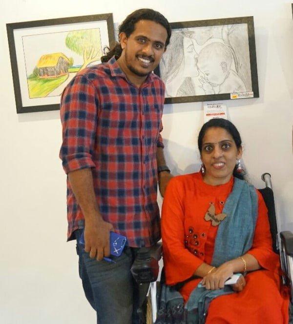 Remya Ganesh with Sukhadev
