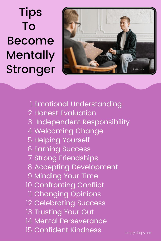 Easy Self-Improvement Tips Mentally Stronger