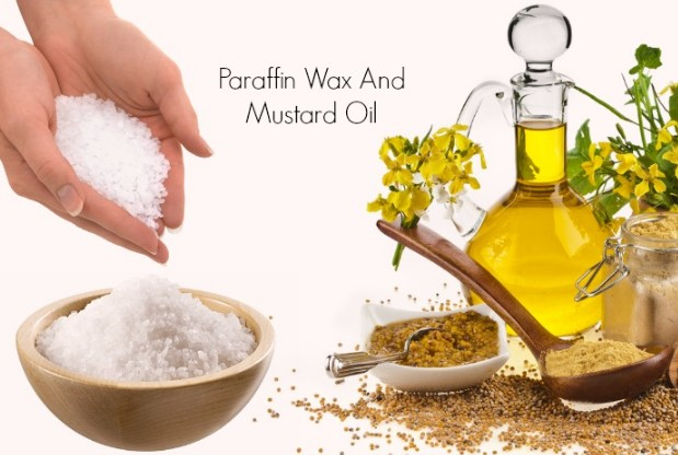 Wax And Mustard Oil For Cracked Heels