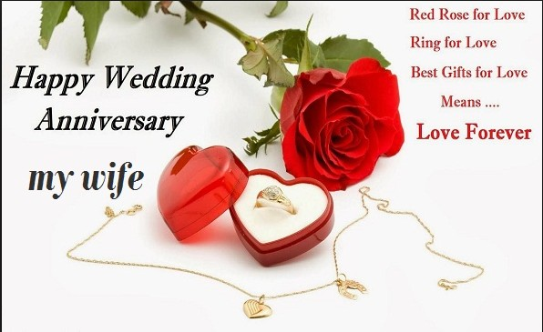happy anniversary image with pendant of heart