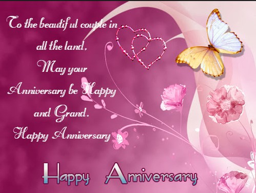 happy anniversary wishes with butterfly