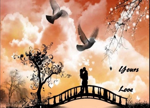 romantic image for anniversary on bridge