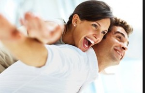 lovers laughing HD wall paper