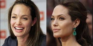 with out make up Angelina jolie