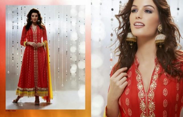 Punjabi style Neck Design Churidar For Stitching