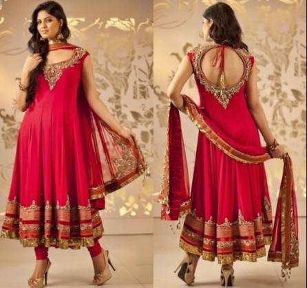 Churidar Neck Designs For Stitching with golden work
