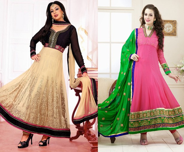 in anarkali style Churidar Neck Designs For Stitching