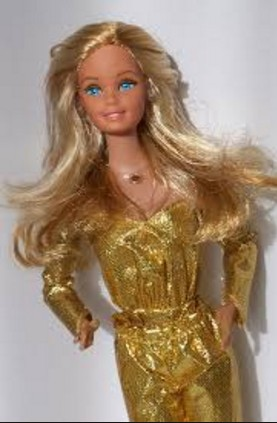 hot golden barbie doll hd wall paper
